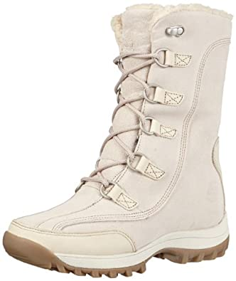 Timberland Women's Canard 10 Inch Boot WP Boot,Winter White,8 M US