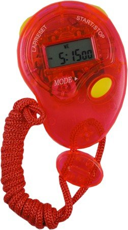 Performance Quartz Stop Watch With Lcd Display #3 (Assorted Colors)