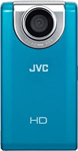 JVC Picsio GC-FM-2 Pocket Video Camera (Blue) NEWEST VERSION