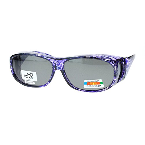 faf08baa2 Polarized Sunglasses Fit Over Glasses Oval Rectangular OTG - Import It All