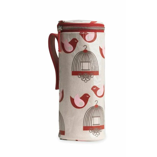 Apple & Bee Baby Bottle Holder, Finches - 1