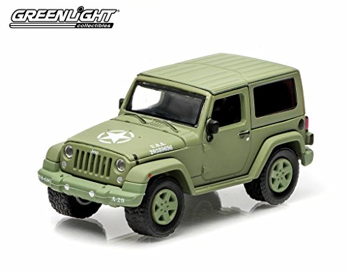 "Greenlight 2014 Jeep Wrangler ""US Army"" 1:64 Scale (Light Green)"