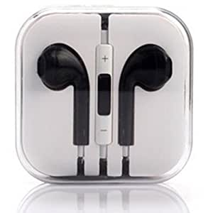 AKSHAJ Best Quality Earphone for Apple IOS Compatible Devices with Remote & Mic - Black - 2 Years Of Warranty.