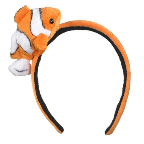Clownfish Headband Plush Clown Fish Stuffed Costume Head Band Girls Hair Accessory