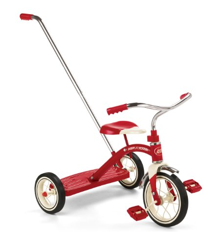 Radio Flyer Classic Tricycle with Push Handle, Red JungleDealsBlog.com
