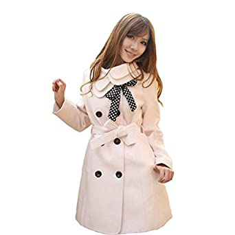 Hee Grand Women Wool Blends Coat Slim Trench Winter Coat Chinese M Beige