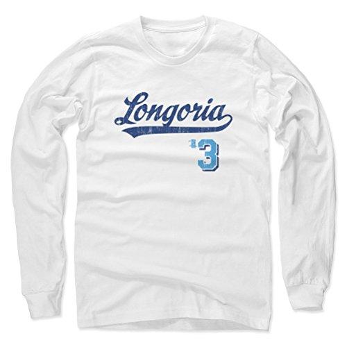 Evan Longoria Script B Tampa Bay Men's Long Sleeve M White