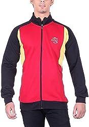 UCC Men's Fleece Regular Fit Sweatshirts (UCC6018BLACK-XL)