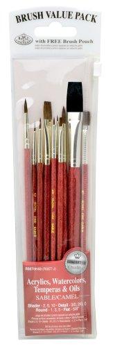 royal-langnickel-rset-9153-set-de-brochas-variedad-sable-y-camello-10-piezas