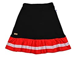 Lil Orchids Girls Cotton Trumpet Skirt