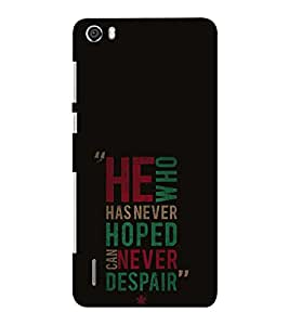 EPICCASE killing quotes Mobile Back Case Cover For Huawei Honor 6 Plus (Designer Case)