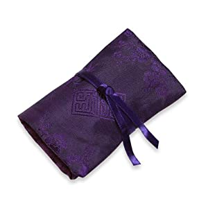 Jewelry Roll (XS) - Silk Jacquard (Deep Purple)