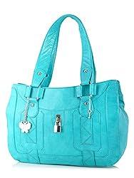Butterflies Women's Handbag (Turquoise) (BNS 0375 TRQ)