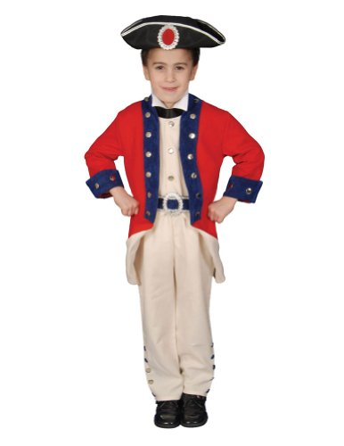 Colonial Soldier Child Md Kids Boys Costume