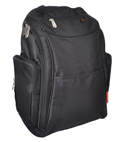 Fisher-Price Deluxe Sporty Diaper Backpack - black, one size - 1