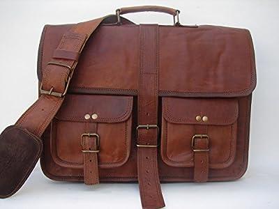 Krish Vintage en cuir souple marron Messenger Sacoche pour ordinateur portable véritable Mallette