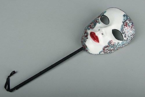 "Karneval Maske mit Stab ""Lady"""