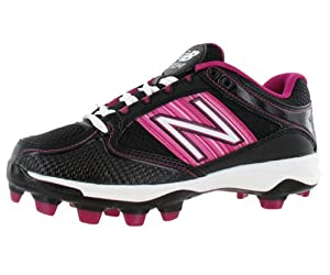 New Balance Women's WF7534 Softball Cleat,Black/Pink,10.5 D US