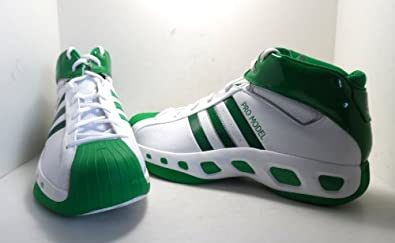 Adidas Men's AST Pro Model S Pro Basketball Shoes White/Green Size 19 NEW!