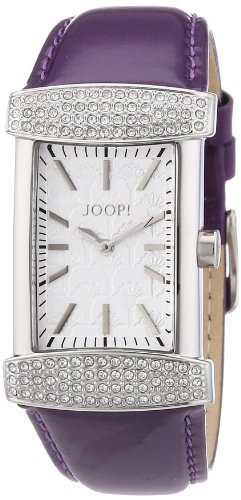 Joop JP100552F06 - Reloj analógico de cuarzo para mujer con correa de piel, color morado