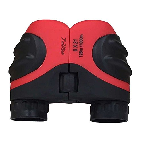 Luwint 8 X 21 Red Kids Binoculars for Bird Watching, Watching Wildlife or Scenery, Game, Mini Compact and Image Stabilized, Best Gifts for Children