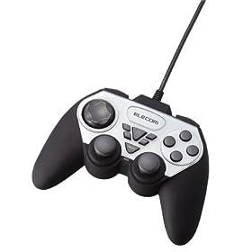 ELECOM ゲームパッド USB接続 アナログスティック搭載 振動/連射 12ボタン JC-U2312FSV