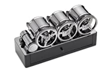 Scatola del Tempo 3RTM Solid Brass/Silver & Leather Programmable 3 Watch Winder
