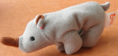 TY Teenie Beanie Babies Spike the Rhino Stuffed Animal Plush Toy