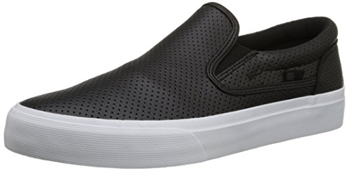 DC Shoes Trase Slip-On Uomo US 9 Nero Scarpe Skate UK 8 EU 42