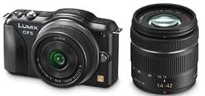Panasonic Lumix GF5W Kit Compact hybride 12,1 Mpix + Lumix G + Lumix G Vario Noir