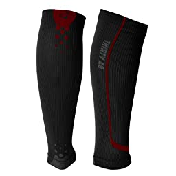 Thirty48 - Cp Plus Series Calf/Shin Splint Guard Graduated Compression Plus Sleeves-Sock; 1 Pair; Maximize Faster Recovery by Increasing Oxygen to Muscles; Great for Running, Cycling, Walking, Basketball, Football Soccer, Cross Fit, Travel; Money Back Gua