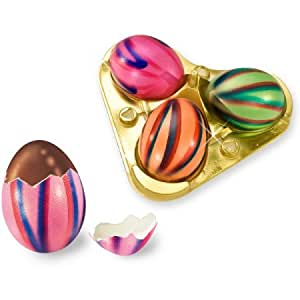 3 Striped Gourmet Chocolate Easter Eggs In