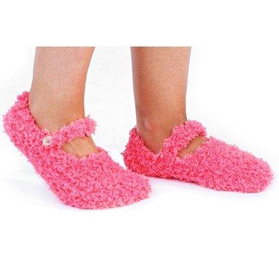 WOMENS GIRLS SLIPPER SOCKS LUXURY FEATHER YARN