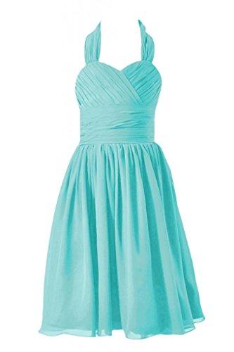 Daisyformals Short Halter Chiffon Flower Girl Dress(Fl1725)- Tiffany Blue