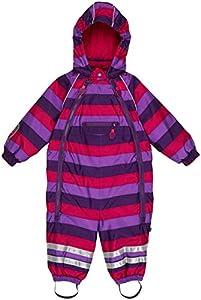 Ej Sikke Lej Striped Schneeanzug Mädchen Wassersäule 8000 - Traje para la nieve para niñas