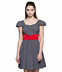 Tryfa Women's Dress (TFDRSK0000131-S-S_Black_Small)