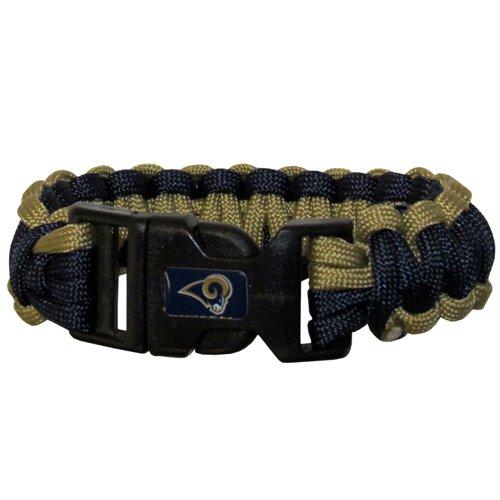 St Louis Rams Nfl Survival Paracord Bracelet Large Authentic Football Team front-964267