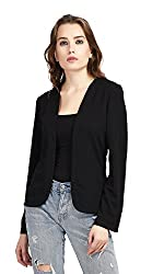 The Gud Look Polyester/Spandex Cozy Knitted Jacket - Black X-Large