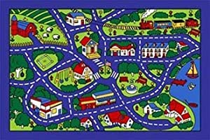 City Map Children Area Rug 39x58 by NAVITZ