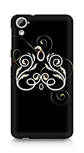 Amez designer printed 3d premium high quality back case cover for HTC Desrie 826 (Abstract Dark 37)