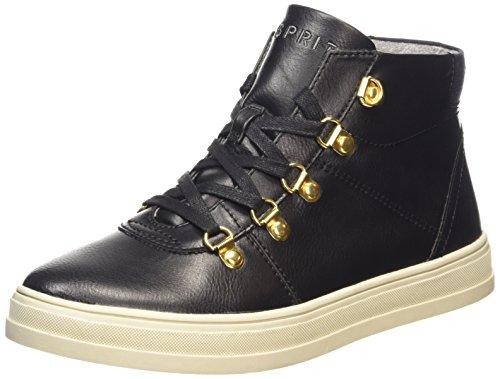 ESPRIT Sidney Bootie, Sneaker alta donna, Nero (Nero (001 Black)), 38