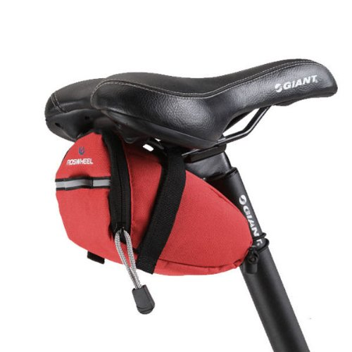 Foxnovo Roswheel 13017 Portable Bike Cycling Bicycle Saddle Bag Seat Bag Pouch With Reflective Tape (Red) front-992029