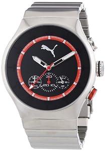 Puma Time Herren-Armbanduhr XL Speaker Metal Chrono Silver Chronograph Quarz Edelstahl PU102541004