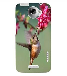 ColourCraft Beautiful Bird Design Back Case Cover for HTC ONE X