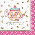 Tea Time Luncheon Napkin Happy Birthday Party Supplies