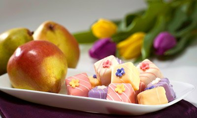 Elegant Petits Fours & Gourmet Pears