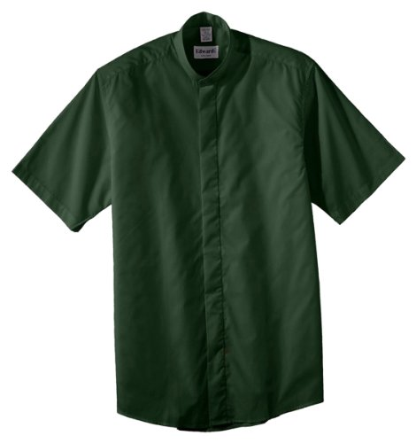 Ed Garments Men'S Big And Tall Short Sleeve Banded Collar Shirt, Forest, 3Xl