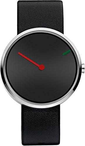 Jacob Jensen-Reloj de pulsera unisex Curve Series analógico de cuarzo piel 250