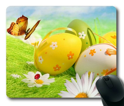 Sakuraelieechyan Green And Yellow For Easter Rectangle Mouse Pad front-185775