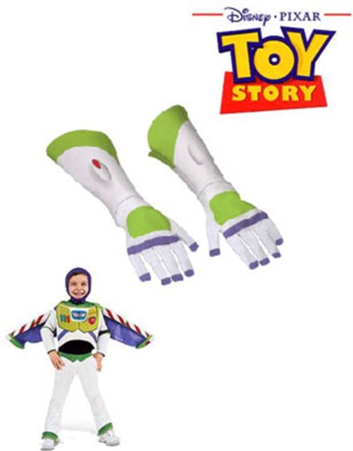 Childs Buzz Lightyear Super Hero Costume Gloves